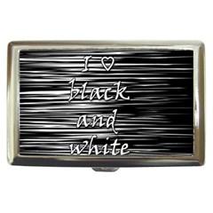 I Love Black And White Cigarette Money Cases