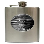 I love black and white Hip Flask (6 oz)