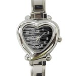 I love black and white Heart Italian Charm Watch Front