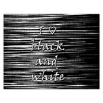 I love black and white Rectangular Jigsaw Puzzl Front