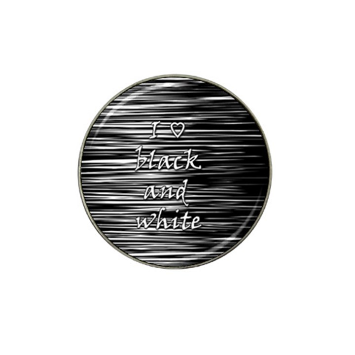 I love black and white Hat Clip Ball Marker