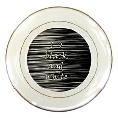 I love black and white Porcelain Plates