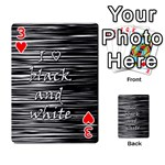 I love black and white Playing Cards 54 Designs  Front - Heart3