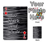 I love black and white Playing Cards 54 Designs  Front - Diamond7