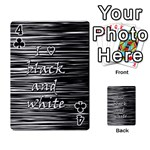 I love black and white Playing Cards 54 Designs  Front - Club4