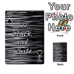 I love black and white Playing Cards 54 Designs  Front - Spade7