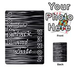 I love black and white Playing Cards 54 Designs  Front - Joker1