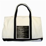 I love black and white Two Tone Tote Bag Front