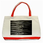 I love black and white Classic Tote Bag (Red)