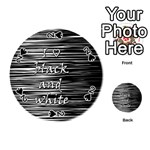 I love black and white Playing Cards 54 (Round)