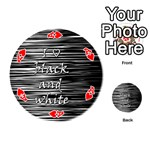 I love black and white Playing Cards 54 (Round)  Front - HeartA