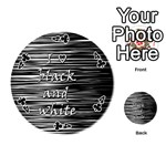 I love black and white Playing Cards 54 (Round)  Front - Club4