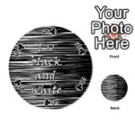 I love black and white Playing Cards 54 (Round)  Front - Club5