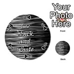 I love black and white Playing Cards 54 (Round)  Front - Club6