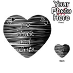 I love black and white Playing Cards 54 (Heart)  Front - SpadeK