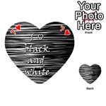 I love black and white Playing Cards 54 (Heart)  Front - Heart7