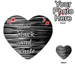 I love black and white Playing Cards 54 (Heart)  Front - Diamond7