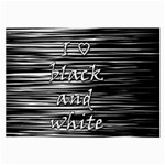I love black and white Large Glasses Cloth