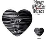I love black and white Multi-purpose Cards (Heart)  Back 18