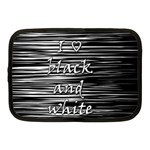 I love black and white Netbook Case (Medium)  Front