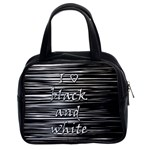 I love black and white Classic Handbags (2 Sides)