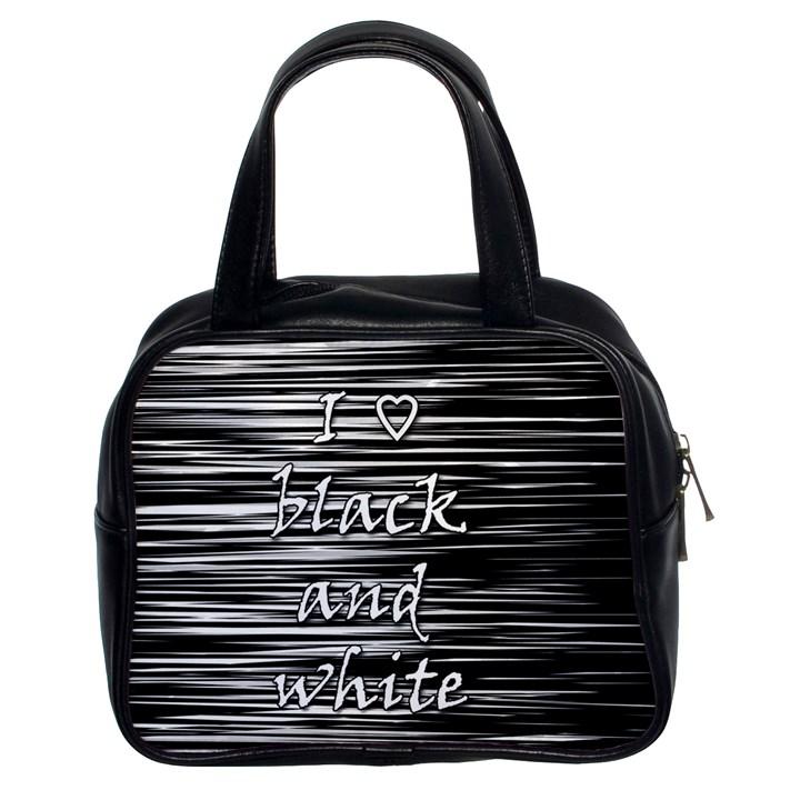 I love black and white Classic Handbags (2 Sides)