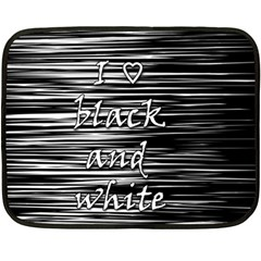 I Love Black And White Double Sided Fleece Blanket (mini)  by Valentinaart