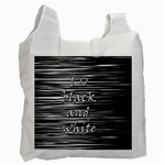 I love black and white Recycle Bag (One Side)