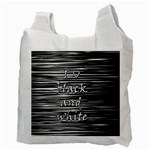 I love black and white Recycle Bag (Two Side)  Back