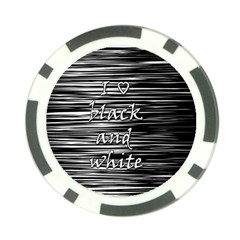 I Love Black And White Poker Chip Card Guards (10 Pack)