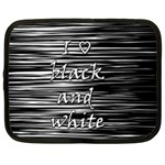 I love black and white Netbook Case (XXL)