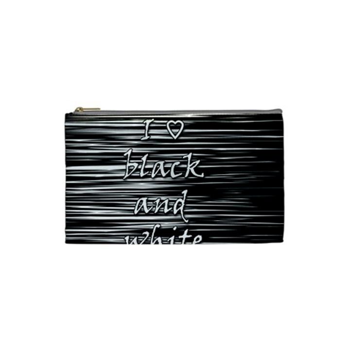 I love black and white Cosmetic Bag (Small)