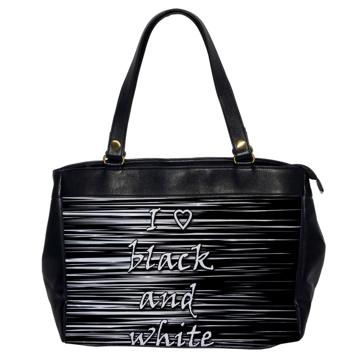 I love black and white Office Handbags