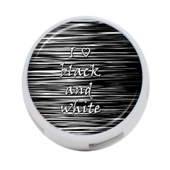 I Love Black And White 4 Port Usb Hub (two Sides)