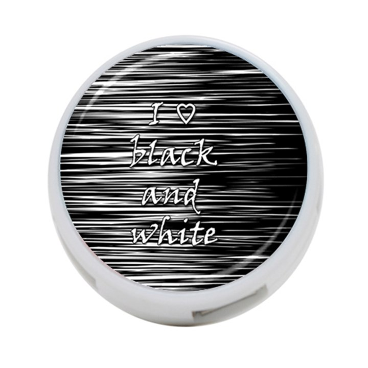 I love black and white 4-Port USB Hub (Two Sides)