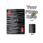 I love black and white Playing Cards 54 (Mini)  Front - HeartK