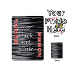 I love black and white Playing Cards 54 (Mini)  Front - Joker2