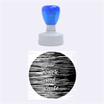 I love black and white Rubber Round Stamps (Medium)