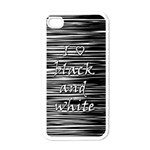 I love black and white Apple iPhone 4 Case (White)