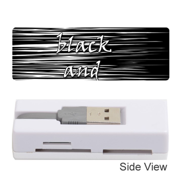 I love black and white Memory Card Reader (Stick)