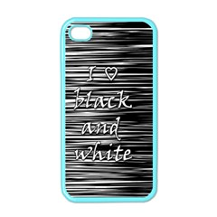 I Love Black And White Apple Iphone 4 Case (color) by Valentinaart