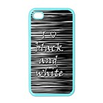 I love black and white Apple iPhone 4 Case (Color)