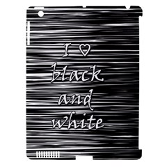 I Love Black And White Apple Ipad 3/4 Hardshell Case (compatible With Smart Cover)