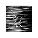 I love black and white Acrylic Tangram Puzzle (4  x 4 ) Front
