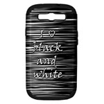 I love black and white Samsung Galaxy S III Hardshell Case (PC+Silicone)