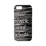 I love black and white Apple iPhone 5 Classic Hardshell Case (PC+Silicone)