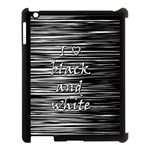 I love black and white Apple iPad 3/4 Case (Black) Front