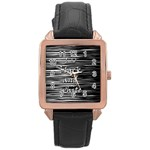 I love black and white Rose Gold Leather Watch  Front