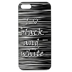 I Love Black And White Apple Iphone 5 Hardshell Case With Stand by Valentinaart