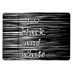 I love black and white Samsung Galaxy Tab 10.1  P7500 Flip Case